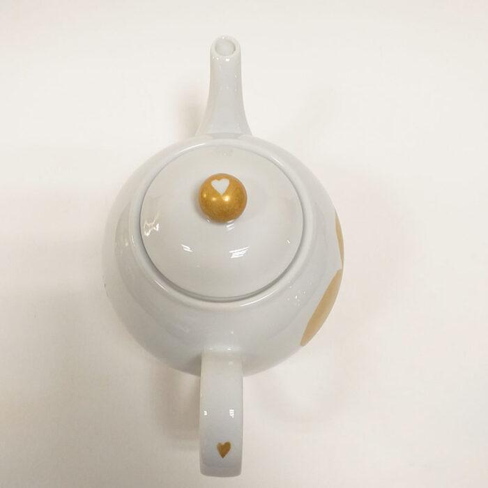 """theière en porcelaine 80 cl peinte à la main. Collection """"Fais un voeu"""""""