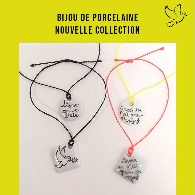 visuel de la nouvelle collection bijou message