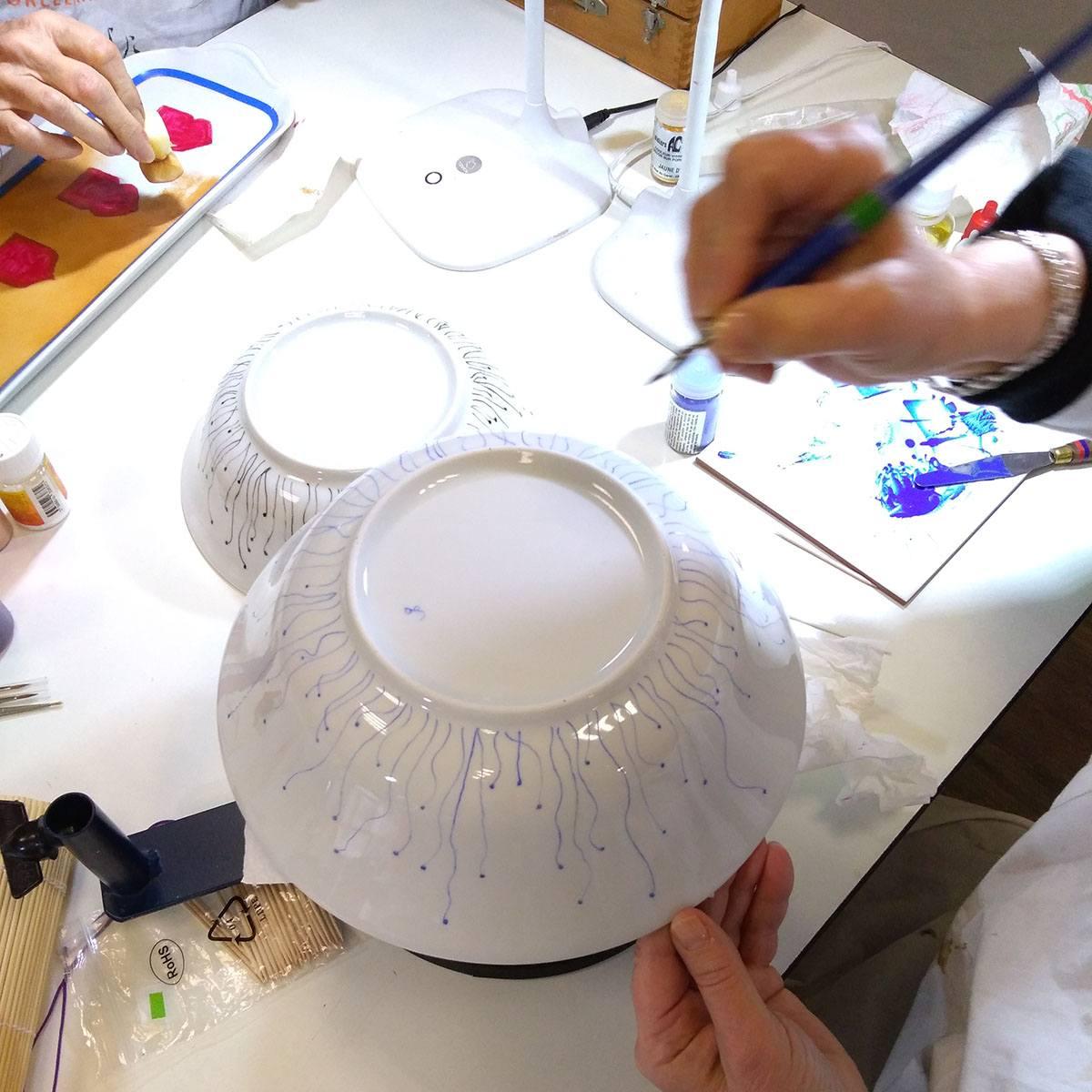 peinture sur porcelaine lyon