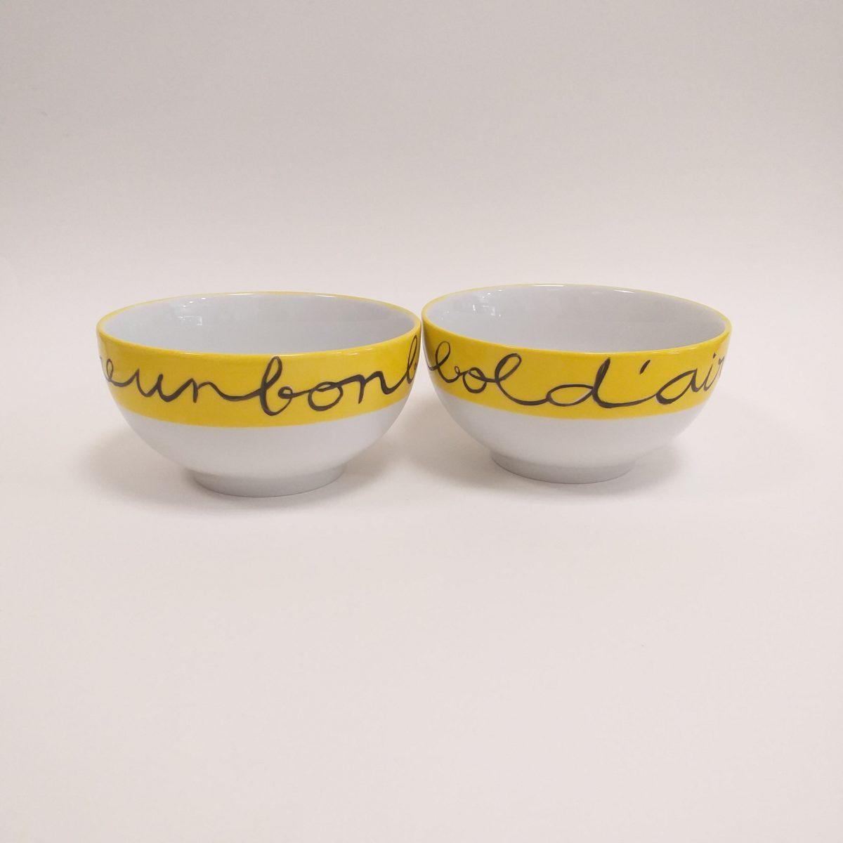 Duo de bols en porcelaine, peint à la main