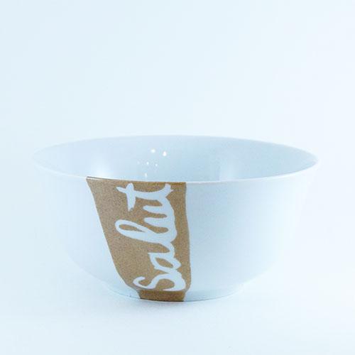 bol à céréales en porcelaine peinte à la main