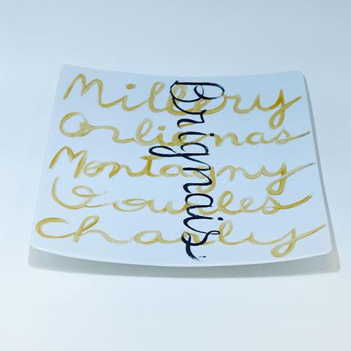 plat carré en porcelaine peinte à la main et personnalisable