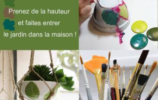 visuel des ateliers suspension et macramé peinture sur porcelaine