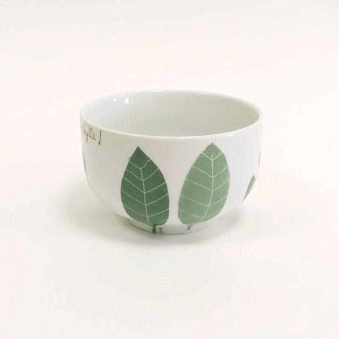 Bol basic en porcelaine, collection Chlorophylle, peint à la main