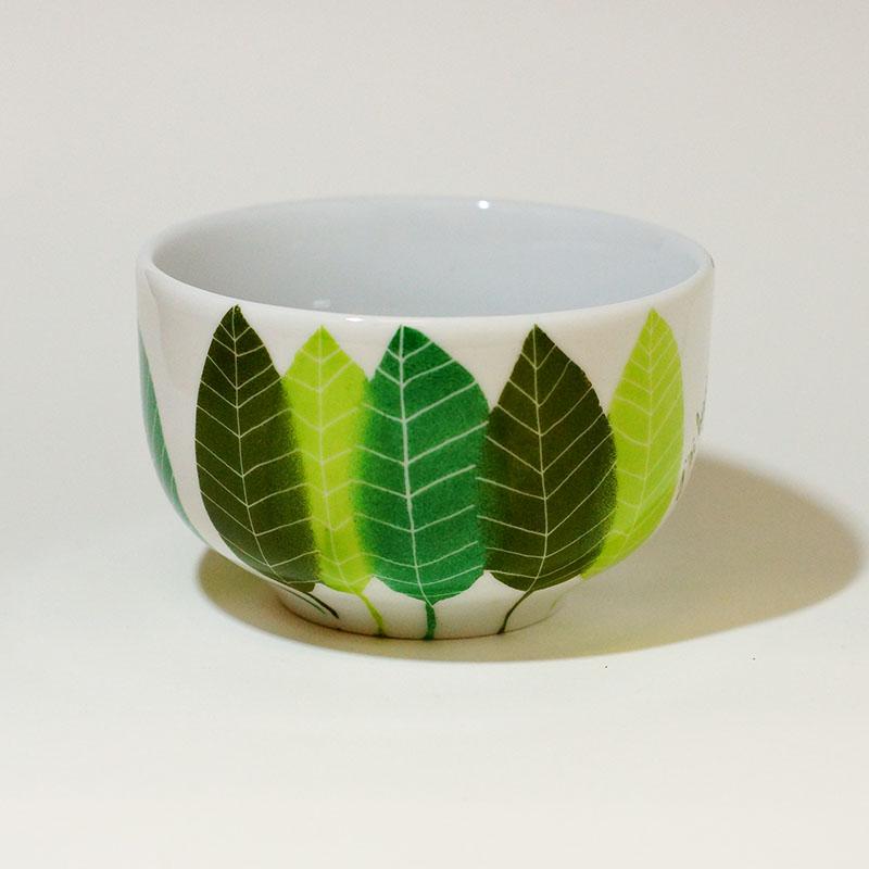 bol en porcelaine pour une suspension en macramé, peint à la main