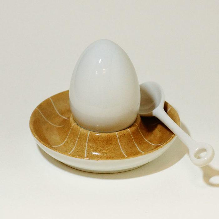 coquetier en porcelaine collection graphique