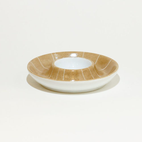 coquetier en porcelaine peint à la main collection graphik