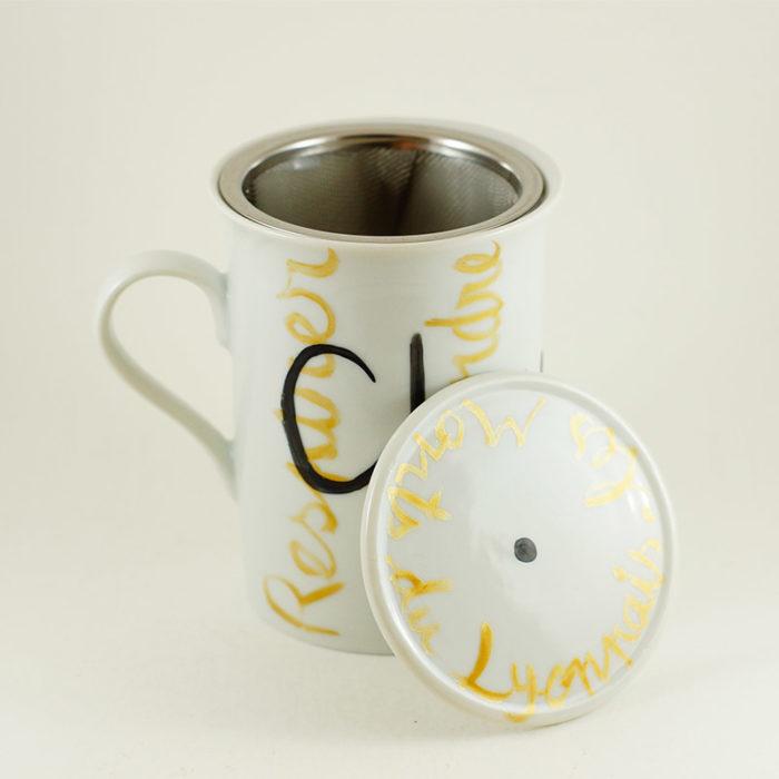 mug ou tisanière avec filtre et couvercle collection j'aime ma ville