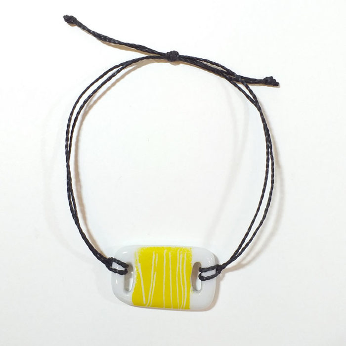 bracelet rectangulaire en porcelaine peint à la main