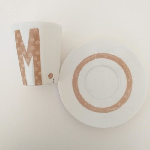 Mug en porcelaine peinte collection message