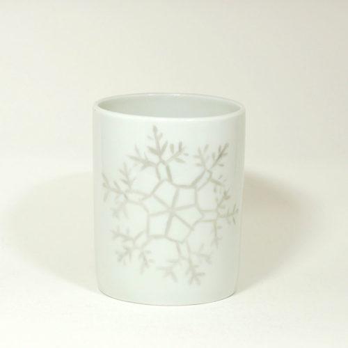 Tasse en porcelaine de Limoges, collection Crystal. Peint à la main