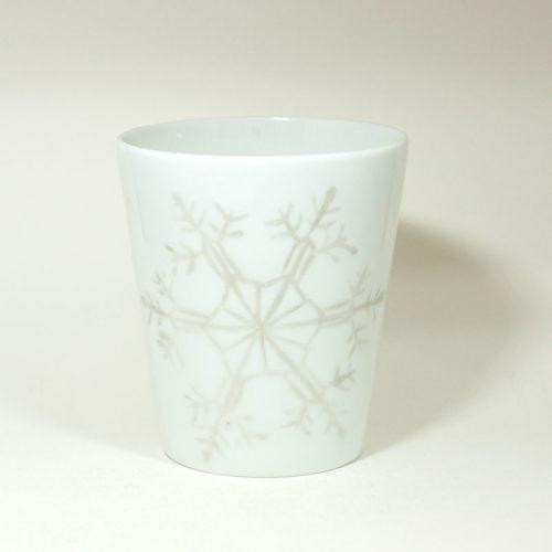 Mug sans anse en Porcelaine de Limoges, Collection Crystal, peint à la main