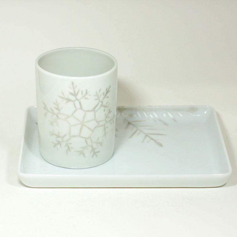 Plat mini en porcelaine de limoges, collection Crystal. Peint à la main