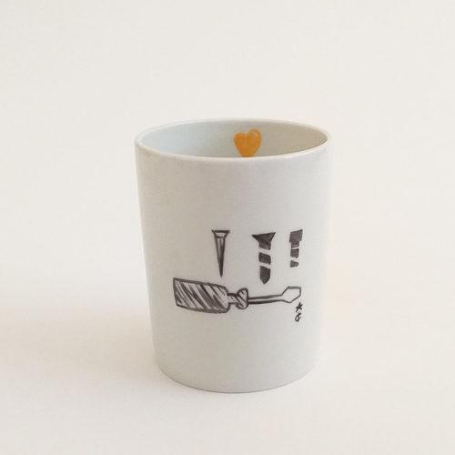 tasse à café en porcelaine de Limoges, peint à la main, Bricolage