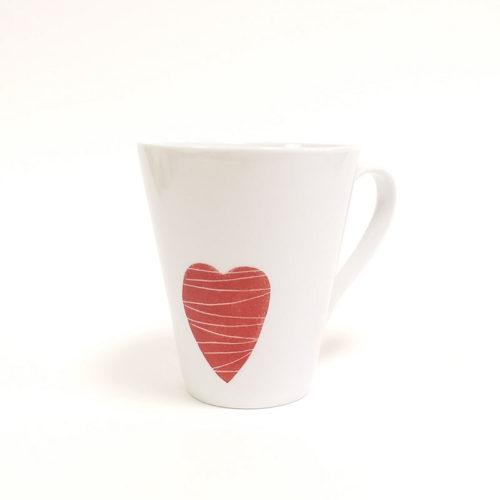 Mug conique en porcelaine, collection Pour remercier, peint à la main