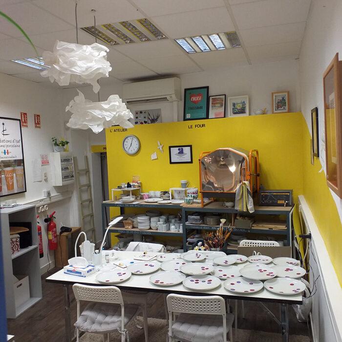 L'atelier de peinture sur porcleaine