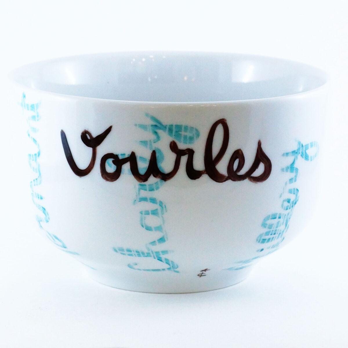 Bol pour chocolatier, Vourles, peint à la main