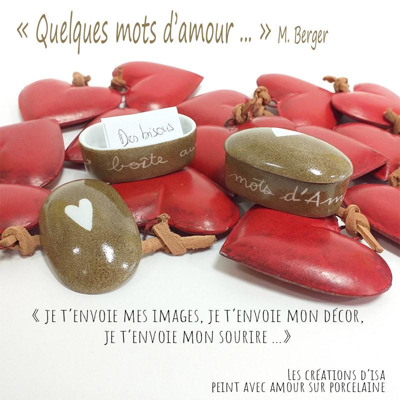 visuel pour la collection de la Saint Valentin, Amore, peinte à la main. Boite en porcelaine