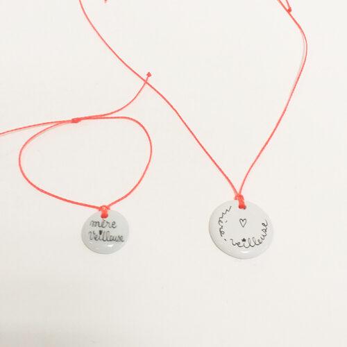 Duo bracelet et pendentif. Collection Mère veilleuse