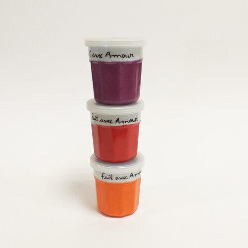 Pots de confiture colorés, collection Amore, petit modèle. Peint à la main par Les Créations d'Isa
