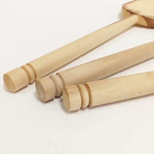 Spatule en bois de houx - Grand modèle. Fabrication artisanale française.